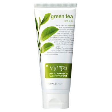 THE FACE SHOP - Пена для умывания Phyto Powder In Cleansing Foam Green Tea