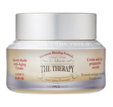 THE FACE SHOP - Крем для лица антивозрастной на масляной основе The Therapy Oil Blending Formula Cream