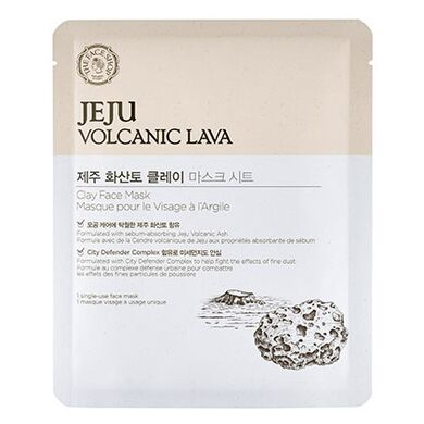 THE FACE SHOP- Маска-салфетка для лица Jeju Volcanic Lava Clay Face Mask