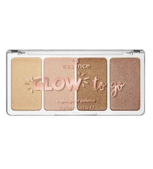 ESSENCE - Палетка хайлайтеров glow to go highlighter palette, 10